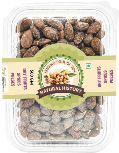 natural history Brand- Chocolate Coated Almond Nut - 500 gm (Pack of 1) Brittles