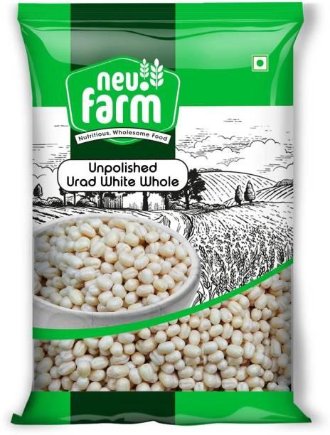 Neu.Farm White Urad Gota (Whole) (Unpolished Urad Whole/Gota Unpolished White - 1 Kg)