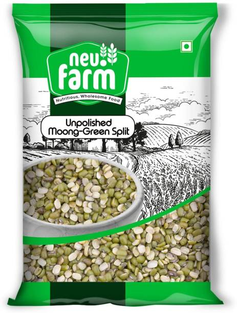 Neu.Farm Moong Dal (Split) (Unpolished Moong - Green, Split/Chilka - 1 Kg)