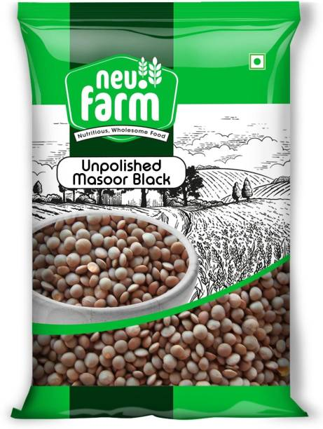 Neu.Farm Masoor Dal (Whole) (Neu.farm - Unpolished Masoor Black Whole/Sabut - 1 Kg)