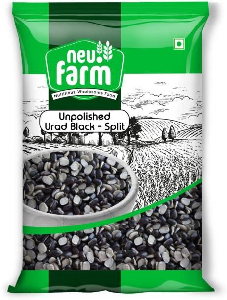 Neu.Farm Urad Dal (Split) (Unpolished Urad - Black Spilt - 1 Kg)