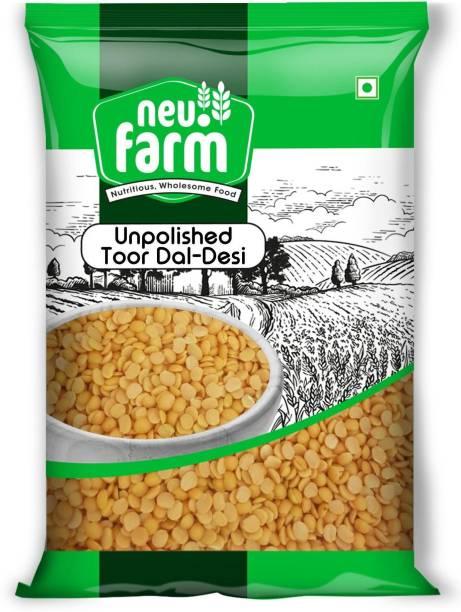 Neu.Farm Oily Toor Dal (Whole) (Unpolished Toor Dal (Desi) - Oily Madhi - 1 Kg)
