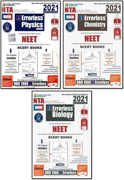 Ubd1960 Errorless (Phy.+CHEM.+BIO.)(VOL.-1+2 )(6-BOOKS COMBO) For Neet As Per New Pattern By Nta New Revised 2021