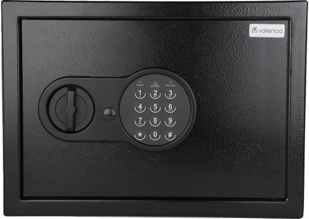 VALENCIA Crux Electronic Digital Security Safe for Home & Office, 16 Litres, Black Safe Locker