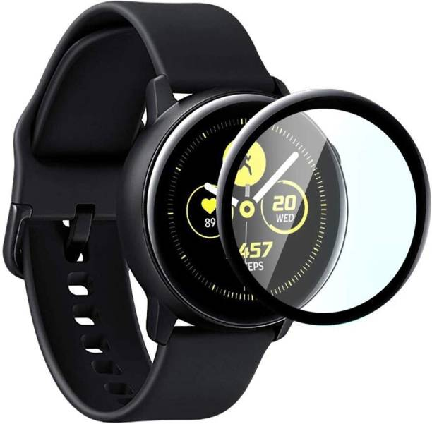 CallSmith Screen Guard for Samsung Galaxy Watch Active 140mm, Active 2 40mm, Unbreakable Soft Fibre Glass Screen Protector
