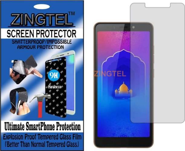 ZINGTEL Tempered Glass Guard for TECNO CAMON IACE 2 (KB2) (Flexible, Unbreakable)