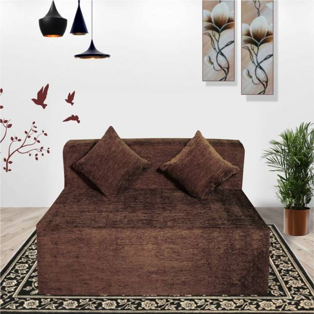 Seventh Heaven 4×6 Molfino Fabric, Sofa cum Bed with 2 Cushions Double Sofa Bed