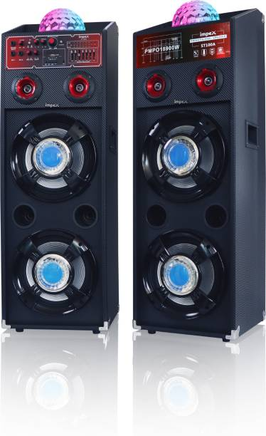 IMPEX S T100 A STAGE SPEAKER WITH DJ LIGHT, WIRELESS MIC PARTY 100 W Bluetooth Home Theatre