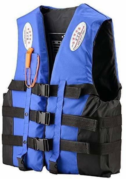 Rhydon Upto 120 kg Professional Swimwear Swimming Fishing Jacket with Whistle Swim Floatation Belt