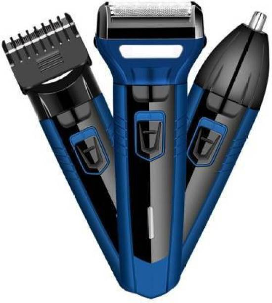 Being Trendy Professional Shaver, 3 in 1 Beard, Nose and Ear Waterproof Trimmer  Runtime: 45 min Grooming Kit for Men & Women