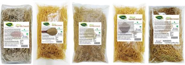 THANJAI NATURAL  1000grams 100% Natural of 5 Varieties ( Finger Millet, Pearl Millet, Foxtail Millet, Kodo Millet, Little Millet Semiya) Vermicelli 1 kg