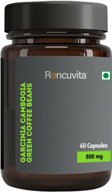RONCUVITA Garcinia Cambogia Green Coffee Beans Weight Loss Supplement,and Fat Burner Capsule