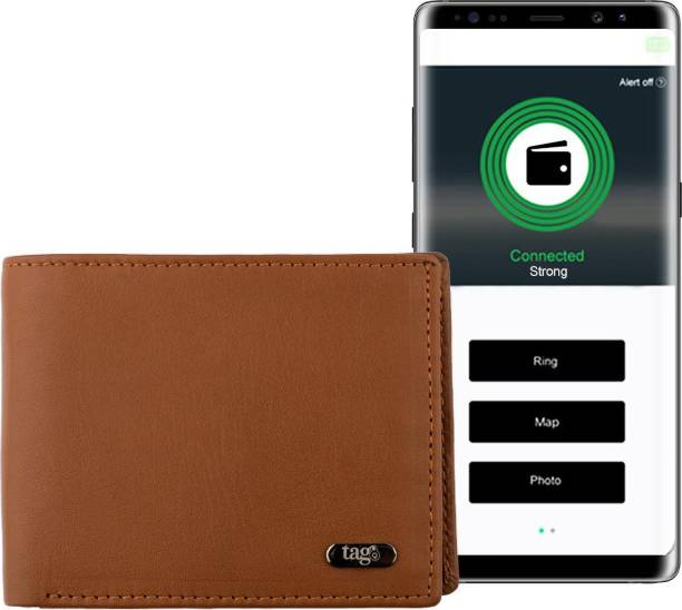 Tag8 Men & Women Trendy Tan Genuine Leather Wallet