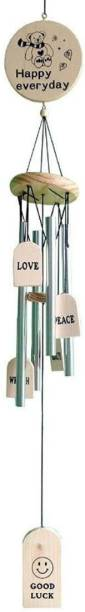 Ngtonline Good Luck 4 Pipes Made In India Wood Windchime