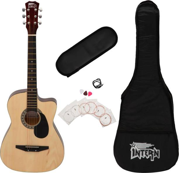 intern INT-38C-NT-G Acoustic Guitar Linden Wood Linden Wood Right Hand Orientation