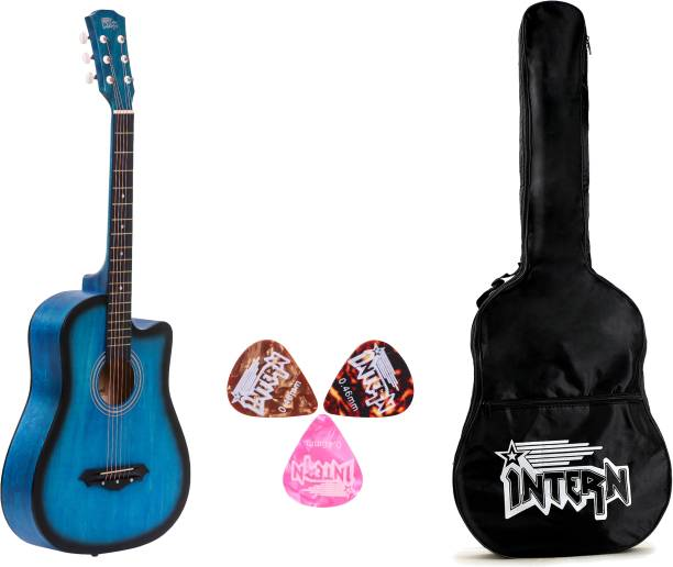 intern INT-38C-LGP-BLS Acoustic Guitar Linden Wood Rosewood Right Hand Orientation