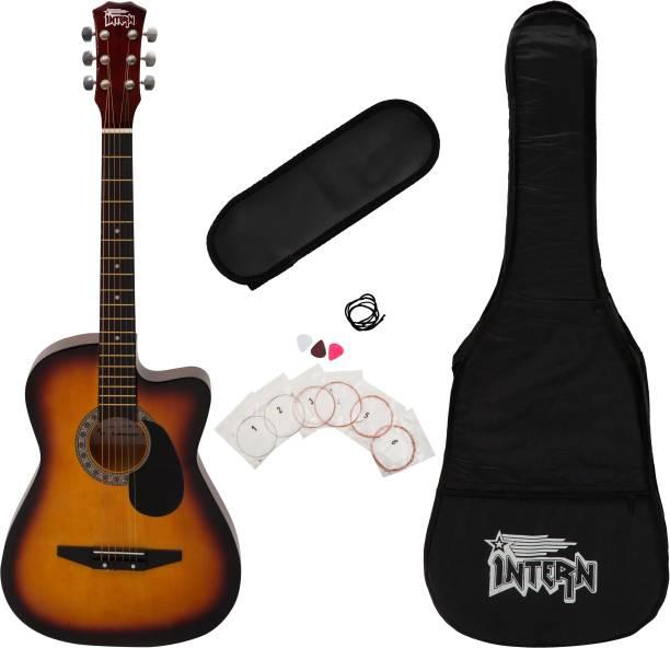 intern INT-38C-SB-G Acoustic Guitar Linden Wood Linden Wood Right Hand Orientation