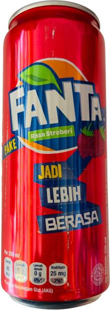 Fanta Strawberry Flavored Soft Drink Can Imported 320ml Can