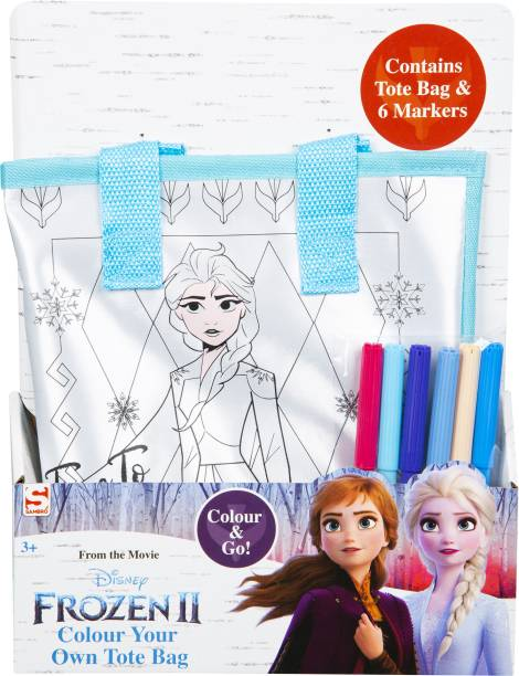 Frozen 2 Colour Your Own Totebag