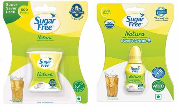 Sugar free Natura 500 pellets and Sweet Drops 10 ml (1 each) Sweetener