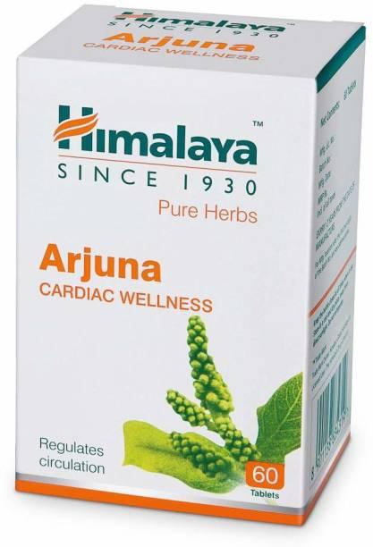 HIMALAYA Wellness Pure Herbs Arjuna Cardiac Wellness 60 Tablets (Pack of 1)