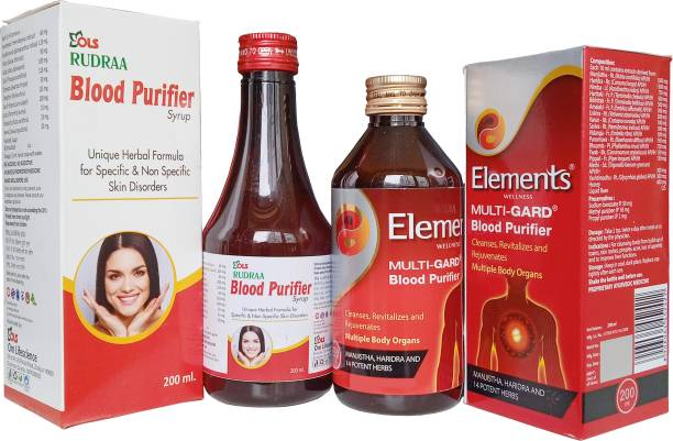 Rudraa Blood Purifier Syrup And Elements Wellness MULTI-GARD BLOOD PURIFIER