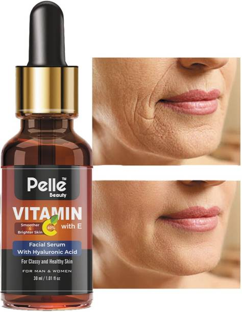 Pelle Beauty vitamin C Facial serum with E _For Anti Aging & Smoothening & Brightening Face _For Men & Women _30ml