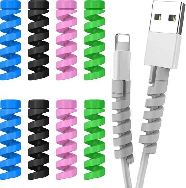 Flipkart SmartBuy Spiral Charger Cable Protector| Data Cable Saver| Charging Cord Protective Cover (Set of 10) Cable Protector