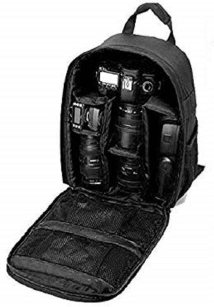 Farman Shoulder Backpack to Carry DSLR SLR Lens Camera Bag (black&black) Camera Bag  Camera Bag