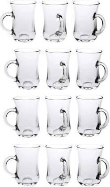 ROCKMART Pack of 12 Glass green tea and coffee cup