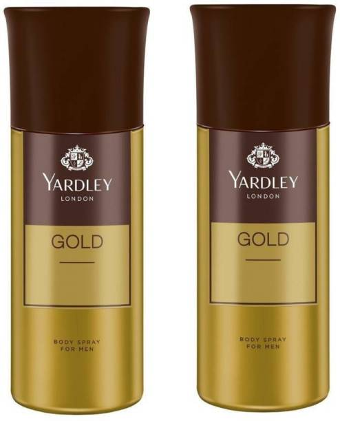 Yardley London gold PACK OF 2 Deodorant Spray  -  For Men