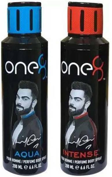 one8 by Virat Kohli AQUA AND INTENSE POUR HOMME Deodorant Spray  -  For Men & Women