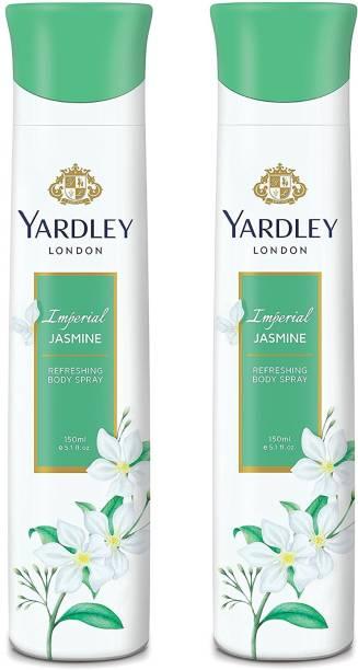 Yardley London Women Imperial Jasmine 150ML Each (Pack of 2) Deodorant Spray  -  For Women