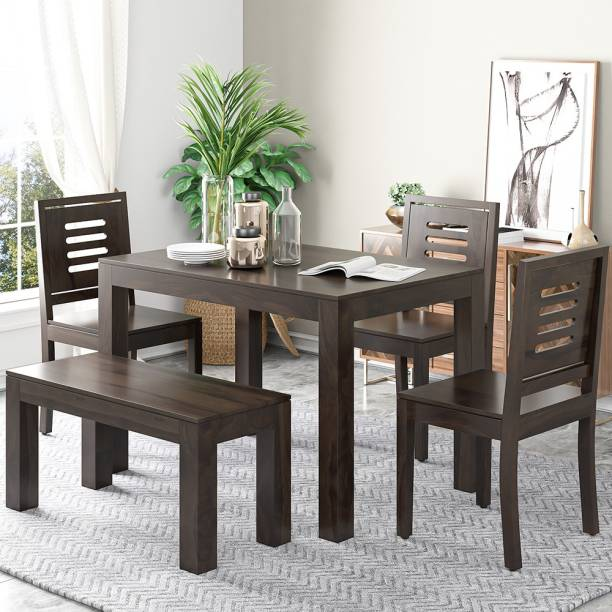 Modway Solid Wood 4 Seater Dining Set