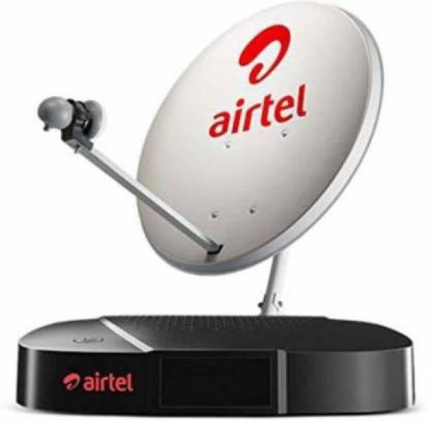 Airtel Digital TV HD Set Top Box 6 Month Tamil Nadu SD Pack + Free Delivery & Standard Installation