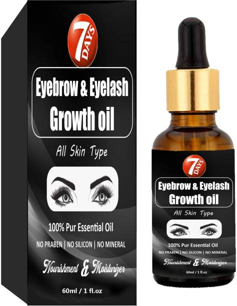 7 Days Eyebrow & Eyelash Growth Oil For Women - Strength with Pure Natural Ingredient 60 ml
