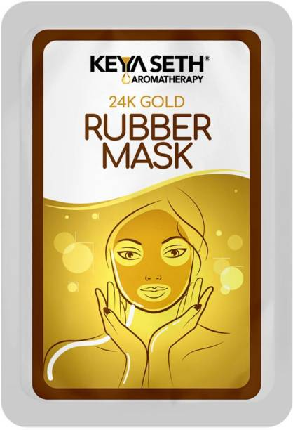 Keya Seth Aromatherapy 24k Gold Rubber Mask for Brightening & Whitening Enriched with Aloe Vera & Chamomile Extract