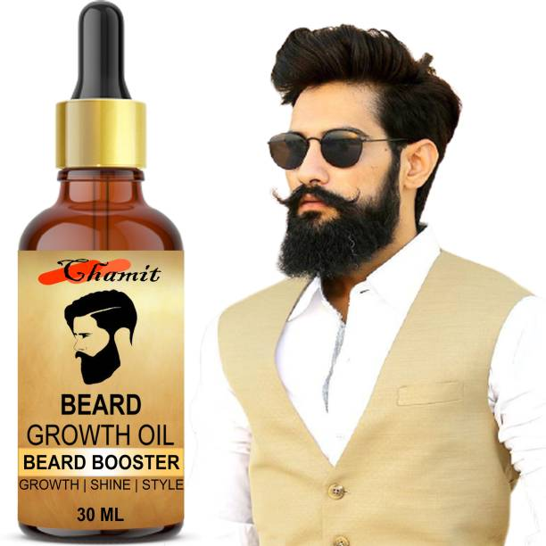 Chamit ORGANIC PREMIUN NATURAL BEARD GEOWTH OIL FOR MEN & BOYS BEARD BOOSTER Hair Oil