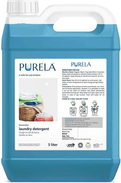 PURELA Liquid Detergent, Suitable for top load detergent and front load liquid detergent, Wash Detergent for Machine and Hand Wash Lavender Liquid Detergent