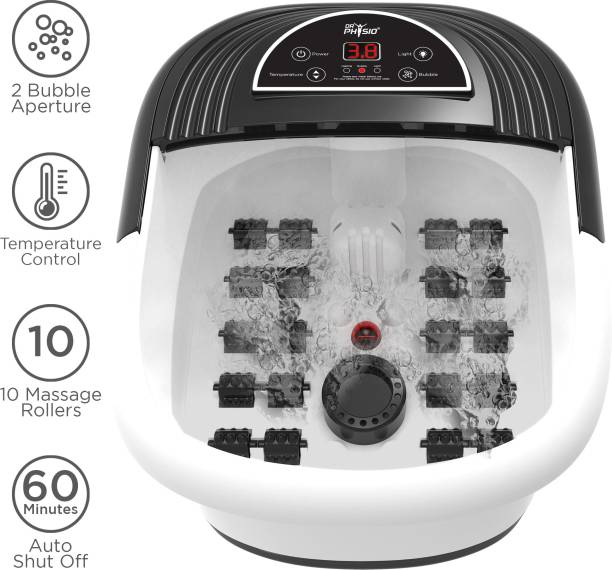DR PHYSIO (USA) Electric Powerful Pedicure Tub Foot Spa Machine With Manual Roller, Bubble, Massage & Heat for Pain Relief Massager
