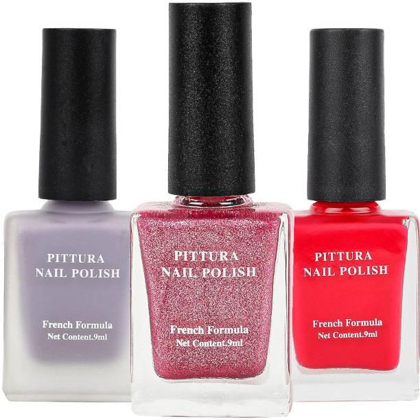 MINISO Pittura Nail Polish for Women Long Lasting Nail Paint Combo,32&16&11 Multicolor