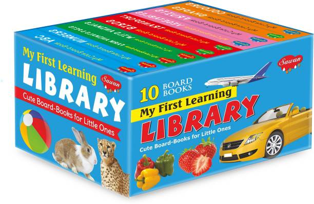 Books For Kids 3 Years Old Blue Box Set Of 10 Board Books