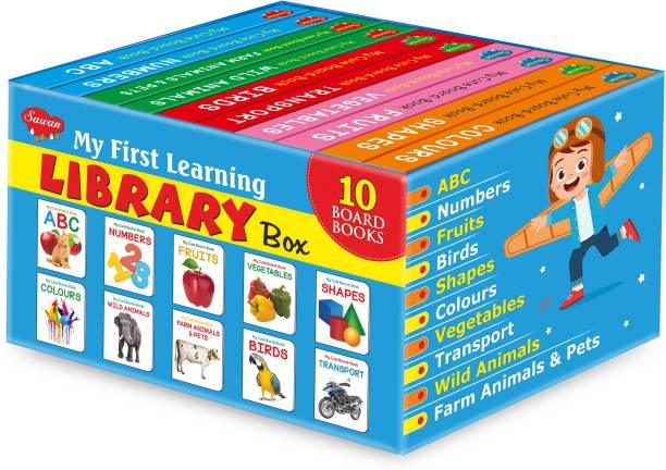 Books For Kids 3 Years Old Board Book Blue Box Set Of 10 Board Books