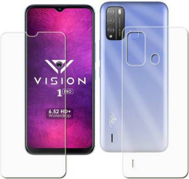 lazzy in hub Front and Back Tempered Glass for ITEL VISION 1 Pro