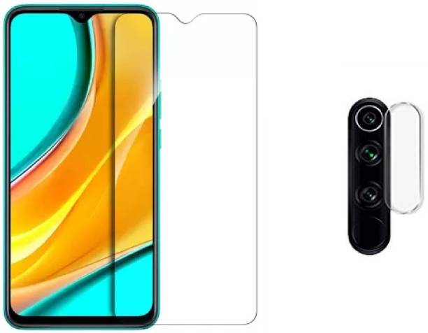ISAAK Tempered Glass Guard for Redmi 9 Prime, Poco M2 Back Camera Lens Protector & Tempered Glass (Combo Pack)