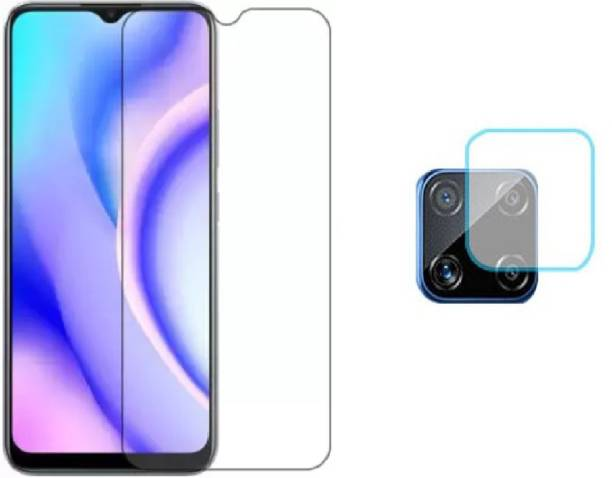 ISAAK Tempered Glass Guard for Realme C15 Back Camera Lens Protector & Tempered Glass (Combo Pack)