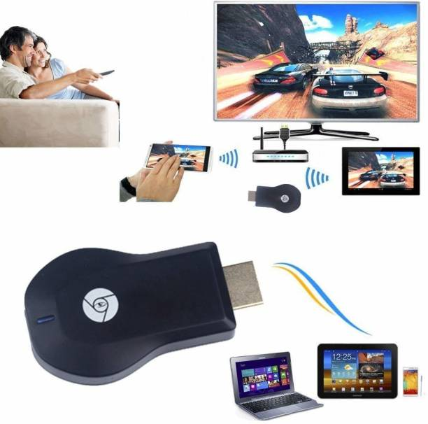 Viraan Anycast M9 Plus | Wireless Display Dongle| Media Streaming Device Media Streaming Device (Black) Media Streaming Device