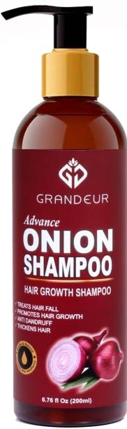 Grandeur Onion Shampoo For Hair Growth With Aloevera, Alkanet Root