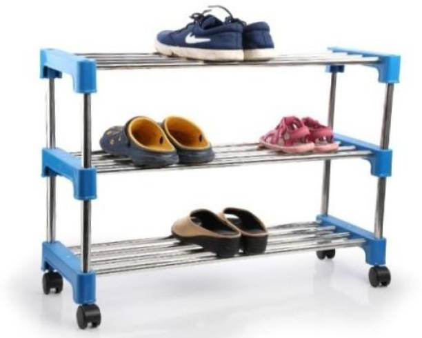 JESTY Metal, Plastic Shoe Stand
