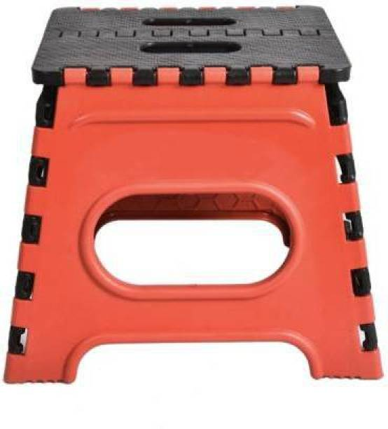 Mahadev Enterprise Folding Stool for Adults and Kids Bedroom & Kitchen Stool (Red) Stool 12 Inch (Red, Black) Stool